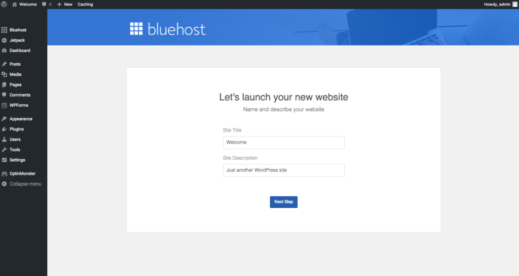 BlueHost Hosting, Starting a blog